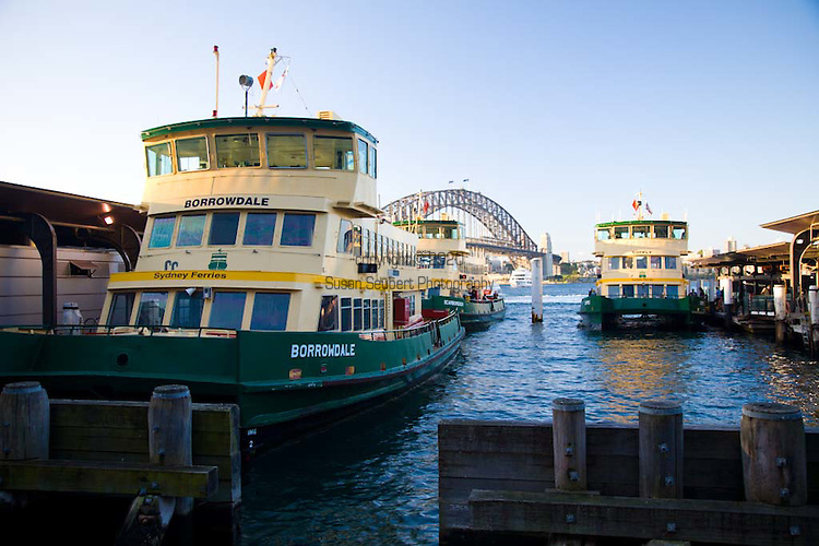 Views along the Circular Quay, Sydney's ferry and public transport hub.
