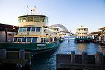 Views along the Circular Quay, Sydney's ferry and public transport hub.