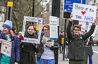 Junior Doctors picketing University College Hospital Euston Road, Picket line Royal National Throat Nose and Ear Hospital grays Inn Road, 12th Jan 2016
