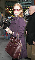 NEW YORK, NY - JANUARY 2: Jessica Chastain seen arriving to the Walter Kerr Theatre in New York City for her Broadway play The Heiress. January 2, 2013: Credit: RW/MediaPunch Inc.