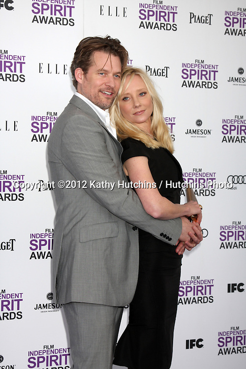 LOS ANGELES - FEB 25:  James Tupper, Anne Heche arrives at the 2012 Film Independent Spirit Awards at the Beach on February 25, 2012 in Santa Monica, CA.