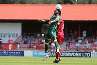 Alex Lawless of Ebbsfleet United and Mitch Rose of Notts Countyduring Ebbsfleet United vs Notts County, Vanarama National League Football at The Kuflink Stadium on 24th August 2019