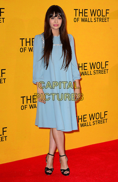 LONDON, ENGLAND - JANUARY 9: Zara Martin attends The Wolf Of Wall Street UK film premiere, for film based on true life crime drama about a New York stockbroker and Wall Street corruption at Odeon Leicester Square, 24-26 Leicester Square, on January 9, 2014, in  London, England. <br /> CAP/JOR<br /> &copy;Nils Jorgensen/Capital Pictures