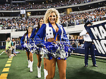 Dallas Cowboys cheerleaders in action during the Thanksgiving Day game between the Miami Dolphins and the Dallas Cowboys at the Cowboys Stadium in Arlington, Texas. Dallas defeats Miami 20 to 19..