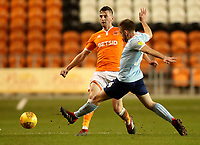 Blackpool's Paudie O'Connor and Accrington Stanley's Ben Richards-Everton<br /> <br /> Photographer Rachel Holborn/CameraSport<br /> <br /> The EFL Checkatrade Trophy Group C - Blackpool v Accrington Stanley - Tuesday 13th November 2018 - Bloomfield Road - Blackpool<br />  <br /> World Copyright © 2018 CameraSport. All rights reserved. 43 Linden Ave. Countesthorpe. Leicester. England. LE8 5PG - Tel: +44 (0) 116 277 4147 - admin@camerasport.com - www.camerasport.com