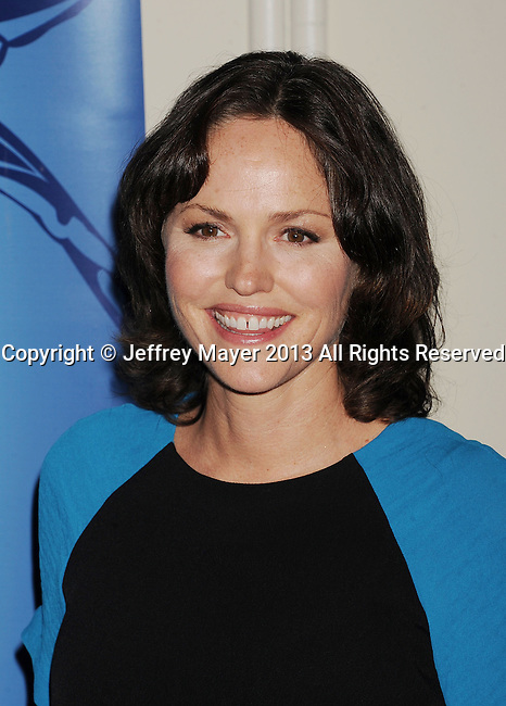 BEVERLY HILLS, CA- OCTOBER 30: Actress Jorja Fox arrives at the Oceana Partners Award Gala With Former Secretary Of State Hillary Rodham Clinton and HBO CEO Richard Plepler at Regent Beverly Wilshire Hotel on October 30, 2013 in Beverly Hills, California.