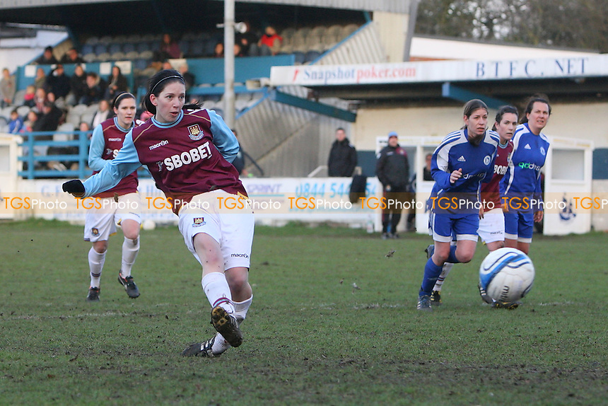 West Ham score their second goal from the penalty spot - Billericay Town Ladies vs West Ham United Ladies - Essex FA Women's Cup Quarter-Final at New Lodge, Billericay - 15/01/12 - MANDATORY CREDIT: Gavin Ellis/TGSPHOTO - Self billing applies where appropriate - 0845 094 6026 - contact@tgsphoto.co.uk - NO UNPAID USE.