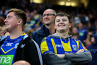 Warrington Wolves fans enjoy the pre-match atmosphere<br /> <br /> Photographer Alex Dodd/CameraSport<br /> <br /> Betfred Super League Grand Final - Wigan Warriors v Warrington Wolves - Saturday 13th October 2018 - Old Trafford - Manchester<br /> <br /> World Copyright &copy; 2018 CameraSport. All rights reserved. 43 Linden Ave. Countesthorpe. Leicester. England. LE8 5PG - Tel: +44 (0) 116 277 4147 - admin@camerasport.com - www.camerasport.com
