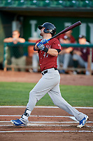 Bubba Starling (47) of the Idaho Falls Chukars follows through on a swing during a game against the Ogden Raptors at Lindquist Field on August 29, 2018 in Ogden, Utah. Idaho Falls defeated Ogden 15-6. (Stephen Smith/Four Seam Images)