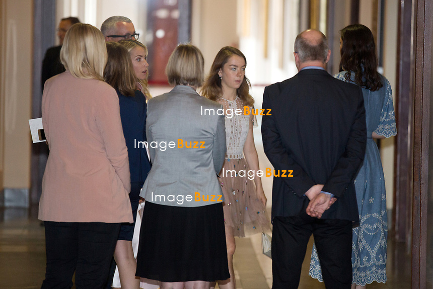 Mariage civil du Prince Ernst junior de Hanovre et de Ekaterina Malysheva, &agrave; l' h&ocirc;tel de ville de Hanovre.<br /> Allemagne, Hanovre, 6 juillet 2017.<br /> Civil wedding of Prince Ernst Junior of Hanover and Ekaterina Malysheva at the new Town Hall in Hanover.<br /> Germany, Hannover, 6 july 2017<br /> Pic : Princess Alexandra of Hanover
