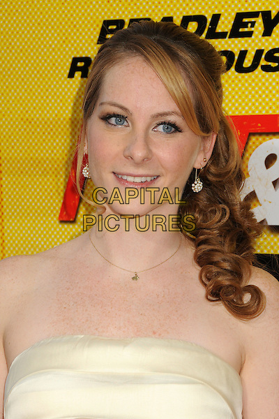 "Carly Hatter.""Hit and Run"" Los Angeles Premiere held at Regal Cinemas L.A. Live, Los Angeles, California, USA..August 14th, 2012.headshot portrait white cream strapless .CAP/ADM/BP.©Byron Purvis/AdMedia/Capital Pictures."