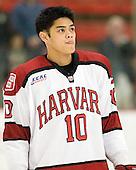 Brayden Jaw (Harvard - 10) - The Yale University Bulldogs defeated the Harvard University Crimson 5-1 on Saturday, November 3, 2012, at Bright Hockey Center in Boston, Massachusetts.
