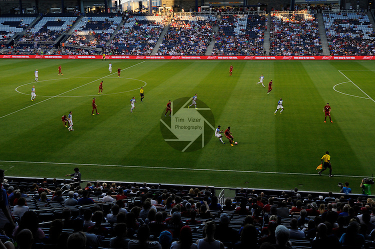 The Bolivian Men's National Team traveled to Kansas City, Kansas to play an international friendly game against the USA Men's National Team on Saturday May 28, 2016. The game was a warmup for both teams as they prepare for the upcoming Copa America. This wide-angle photo taken shortly after the start of the second half.