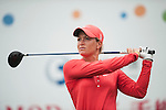 TAOYUAN, TAIWAN - OCTOBER 28:  Suzann Pettersen tees off on the 15th hole during the day four of the Sunrise LPGA Taiwan Championship at the Sunrise Golf Course on October 28, 2012 in Taoyuan, Taiwan.  Photo by Victor Fraile / The Power of Sport Images