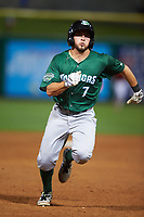 Daytona Tortugas Blake Trahan (7) running the bases during a game against the Clearwater Threshers on April 19, 2016 at Bright House Field in Clearwater, Florida.  Clearwater defeated Daytona 4-1.  (Mike Janes/Four Seam Images)