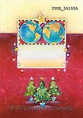 Isabella, CHRISTMAS SYMBOLS, corporate, paintings, 2 blue globes, tree(ITKE501858,#XX#) Symbole, Weihnachten, Geschäft, símbolos, Navidad, corporativos, illustrations, pinturas