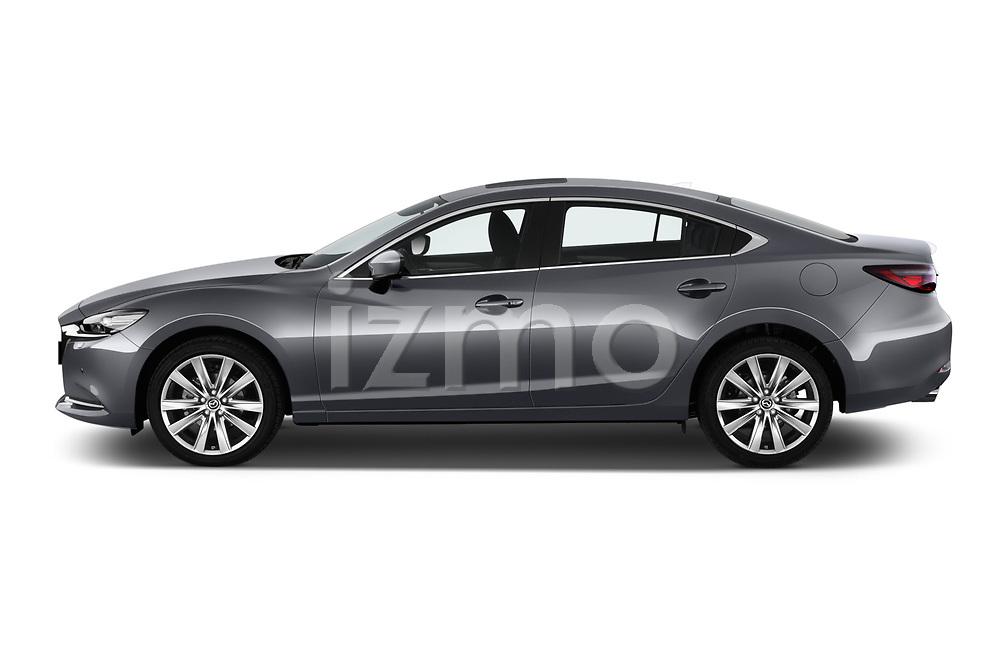 Car driver side profile view of a 2018 Mazda Mazda6 Skycruise 4 Door Sedan