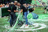 GRONINGEN - Voetbal, Open dag FC Groningen ,  seizoen 2017-2018, 06-08-2017,  na de presentatie was het opruimen geblazen