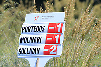 Scoreboard during the first round of the Rocco Forte Sicilian Open played at Verdura Resort, Agrigento, Sicily, Italy 10/05/2018.<br /> Picture: Golffile | Phil Inglis<br /> <br /> <br /> All photo usage must carry mandatory copyright credit (&copy; Golffile | Phil Inglis)