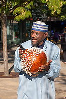 African Musician Playing Gourd, Renton Multicultural Festival 2017, WA, USA.
