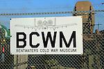 Sign Bentwaters Cold War museum, Bentwaters Park, Rendlesham, Suffolk, England, UK