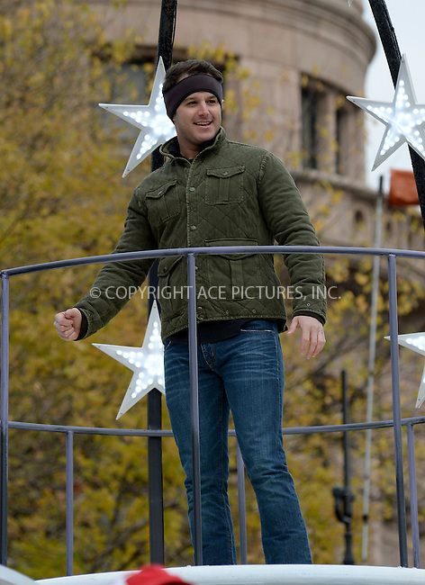 www.acepixs.com<br /> <br /> November 24 2016, New York City<br /> <br /> Easton Corbin made an appearance at the 90th Annual Macy's Thanksgiving Day Parade on November 24, 2016 in New York City.<br /> <br /> By Line: Kristin Callahan/ACE Pictures<br /> <br /> <br /> ACE Pictures Inc<br /> Tel: 6467670430<br /> Email: info@acepixs.com<br /> www.acepixs.com