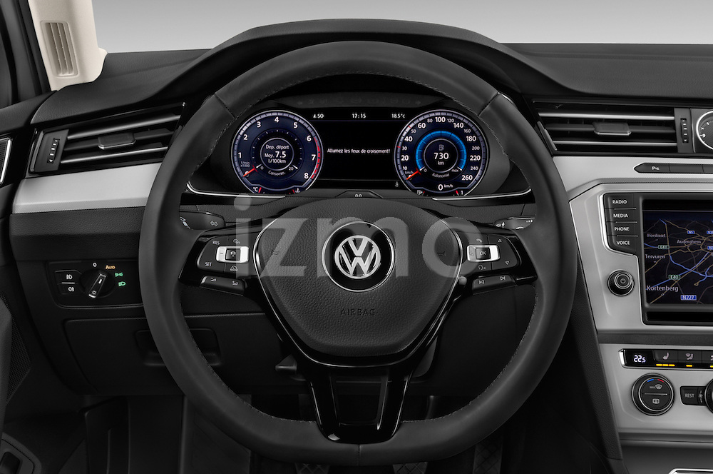 Car pictures of steering wheel view of a 2015 Volkswagen Passat Comfort 4 Door Sedan Steering Wheel