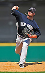 11 March 2009: New York Yankees' pitcher Brian Bruney on the mound during a Spring Training game against the Detroit Tigers at Joker Marchant Stadium in Lakeland, Florida. The Tigers defeated the Yankees 7-4 in the Grapefruit League matchup. Mandatory Photo Credit: Ed Wolfstein Photo