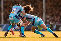 Castres Camille Gerondeau in action during todays match<br /> <br /> Photographer Bob Bradford/CameraSport<br /> <br /> European Rugby Heineken Champions Cup Pool 2 - Exeter Chiefs v Castres - Sunday 13th January 2019 - Sandy Park - Exeter<br /> <br /> World Copyright © 2019 CameraSport. All rights reserved. 43 Linden Ave. Countesthorpe. Leicester. England. LE8 5PG - Tel: +44 (0) 116 277 4147 - admin@camerasport.com - www.camerasport.com