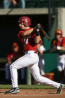 Joe De Pinto of the USC Trojans during game against the  Western Carolina Catamounts at Dedeaux Field in Los Angeles,CA.  Photo by Larry Goren/Four Seam Images
