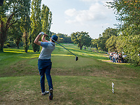 Matthew Fitzpatrick (ENG) in action on the 17th hole during the second round of the 76 Open D'Italia, Olgiata Golf Club, Rome, Rome, Italy. 11/10/19.<br /> Picture Stefano Di Maria / Golffile.ie<br /> <br /> All photo usage must carry mandatory copyright credit (© Golffile | Stefano Di Maria)