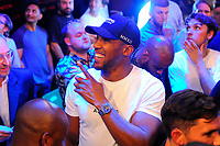 Anthony Joshua looks on during a Boxing Show at York Hall on 6th June 2018