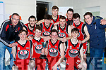 The St Marys team celebrate after defeating  St Brendans in the Senior Mens Div 1 final in Killarney Sunday night
