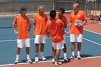 SAN ANTONIO, TX - APRIL 15, 2006: The Prairie View A&M University Panthers vs. The University of Texas at San Antonio Roadrunners Men's Tennis at the UTSA Tennis Center. (Photo by Jeff Huehn)