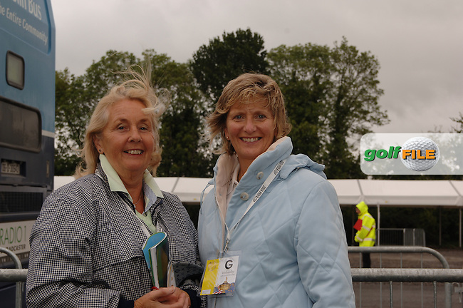 20th September, 2006. Dublin Ireland. Crowds attend the second practise day of the 2006 Ryder Cup at the K Club. From L to R: Mary Holian from Navan and Colette Foley also from Navan pictured at the Ryder Cup..Photo: Barry Cronin/ Newsfile..