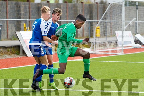 Kevin Williams Kerry in Action against Cathal Downes Limerick U17 Soccer at Mounthawk Park on Sunday.