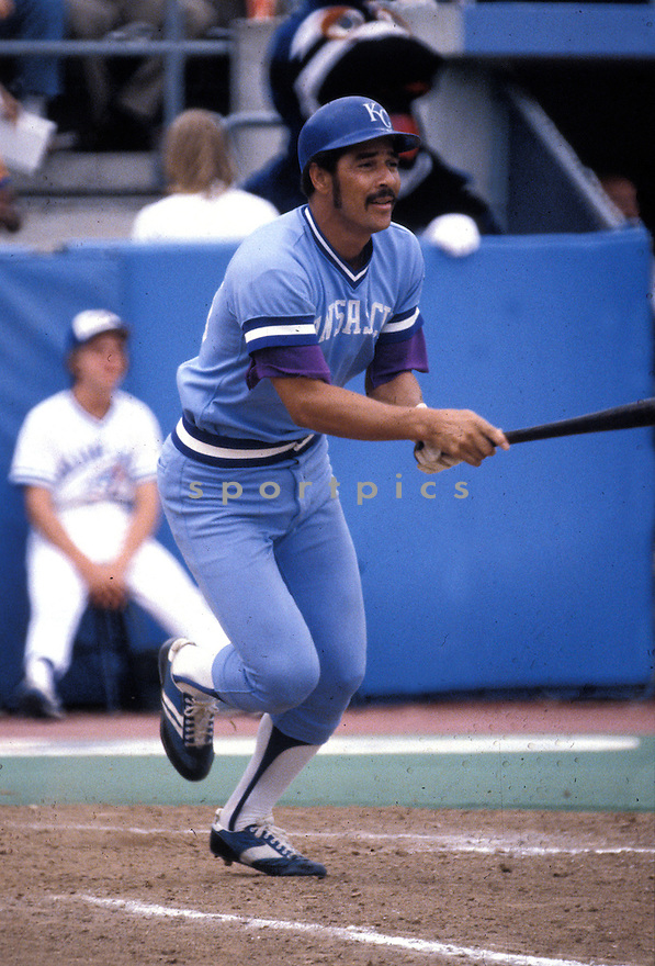 Kansas City Royals Amos Otis (26) during a game from his 1980 season. Amos Otis played for 17 years with 3 different teams and was a 5-time All-Star.(David Durochik/SportPics)(David Durochik/SportPics)