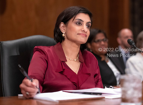 "Seema Verma, Administrator, Centers for Medicare & Medicaid Services, US Department of Health and Human Services, testifies before the United States Senate Committee on Homeland Security & Governmental Affairs during a hearing entitled ""Examining CMS's Efforts to Fight Medicaid Fraud and Overpayments"" on Capitol Hill in Washington, DC on Tuesday, August 21, 2018.<br /> Credit: Ron Sachs / CNP"