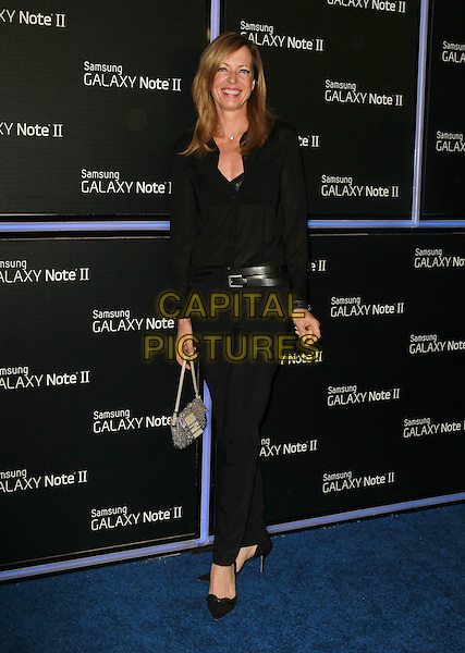 Allison Janney.Samsung Mobile Launch Party For The New Samsung Galaxy Note II Held At Private Residence, Beverly Hills, California, USA, 25th October 2012..full length shirt black necklace belt trousers shoes bag .CAP/ADM/KB.©Kevan Brooks/AdMedia/Capital Pictures.