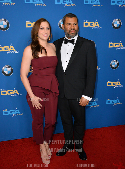 Chelsea Peretti & Jordan Peele at the 70th Annual Directors Guild Awards at the Beverly Hilton Hotel, Beverly Hills, USA 03 Feb. 2018<br /> Picture: Paul Smith/Featureflash/SilverHub 0208 004 5359 sales@silverhubmedia.com
