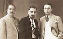 Syria 1929.<br /> Damascus: Osman Allusi, Geladet Bedir Khan and a Kurd of Rowanduz  .<br /> Syrie 1929 .<br /> A Damas, Osman Allusi, Geladet Bedir Khan  et unKurde de Rowanduz a droite