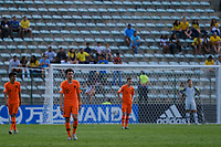 17th November 2019; Bezerrao Stadium, Brasilia, Distrito Federal, Brazil; FIFA U-17 World Cup football 3rd placed game 2019, Netherlands versus France;  Netherlands players look dejected in defeat after the match - Editorial Use
