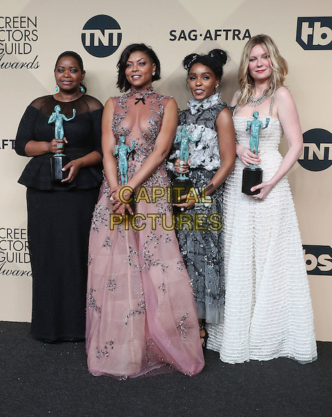 29 January 2017 - Los Angeles, California - Octavia Spencer, Taraji P. Henson, Janelle Monae, Kirsten Dunst. 23rd Annual Screen Actors Guild Awards held at The Shrine Expo Hall. <br /> CAP/ADM/FS<br /> &copy;FS/ADM/Capital Pictures