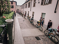 chasing peloton during the local lap in Iseo<br /> <br /> stage 17: Riva del Garda - Iseo (155 km)<br /> 101th Giro d'Italia 2018