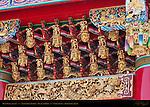 Kanteibyo Temple, Guan di Miao, Main Gate Detail, Chinatown, Yokohama, Japan
