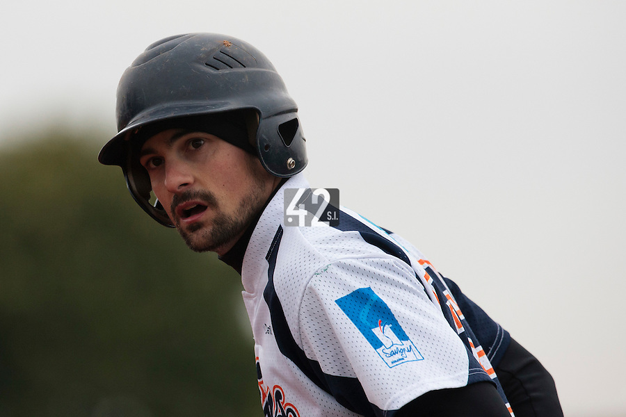 17 October 2010: Florian Peyrichou of Savigny is seen during Rouen 10-5 win over Savigny, during game 2 of the French championship finals, in Savigny sur Orge, France.