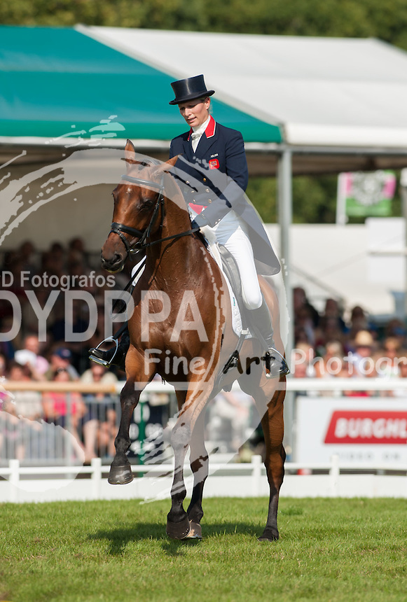 Zara Phillips and High Kingdom, during the second day of the dressage phase of the Land Rover Burghley Horse Trials 2011, Stamford, England, September 2, 2011. Photo by Nico Morgan/i-Images / DyD Fotografos