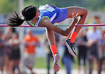 "Bishop Gorman's Vashti Cunningham clears 6'1"" in the high jump during the NIAA state track and field championships at Carson High, in Carson City, Nev., on Friday, May 23, 2014. (Las Vegas Review-Journal, Cathleen Allison)"