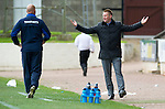 St Johnstone v Rangers....13.05.12   SPL.Steve Lomas reacts.Picture by Graeme Hart..Copyright Perthshire Picture Agency.Tel: 01738 623350  Mobile: 07990 594431