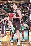 Lehigh Mountain Hawks forward Holden Greiner (20) in action during the game between the Lehigh Mountain Hawks and the North Texas Mean Green at the Super Pit arena in Denton, Texas. Lehigh defeats UNT 90 to 75...